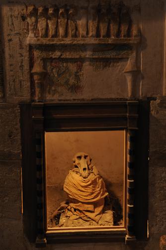 Múmia de babuíno em Tuna el-Gebel . Imagem disponível em . Acesso em 13 de junho de 2013.